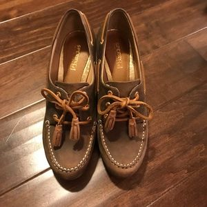 Sperry Seabourne Brown Distressed Wedge